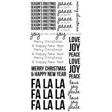 Kaisercraft Clear Stickers - Seasons Greetings ST921  Very Large Stickers